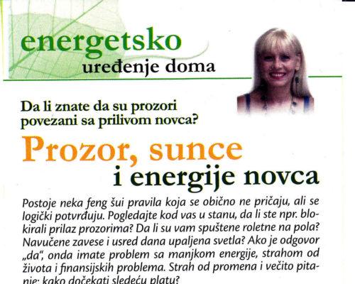 Kakve veze imaju PROZOR i SUNCE sa energijom NOVCA-magazin Ziveti zdravije