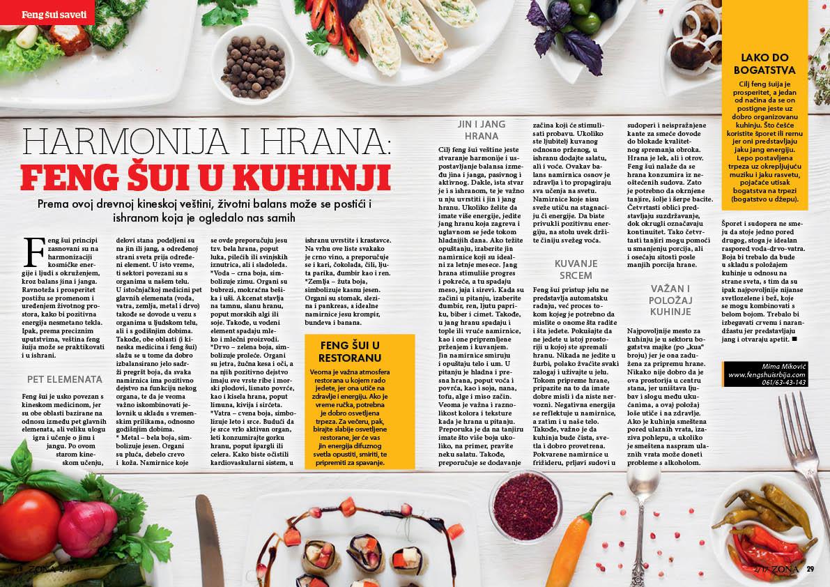 Harmonija i hrana-feng shui u kuhinji i restoranu  FENGSHUISrbija.com